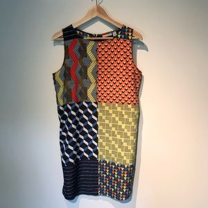 Colorful modern shift dress